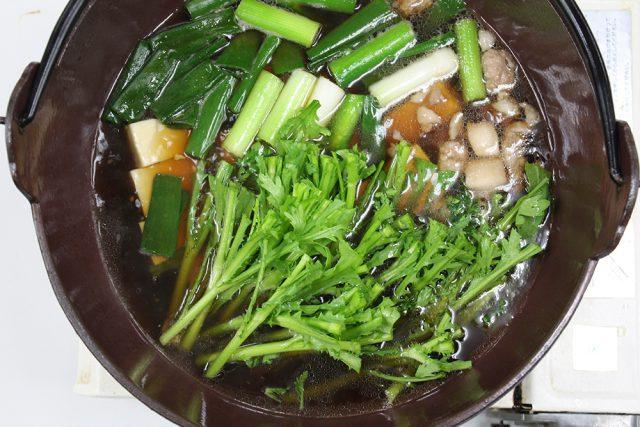 菊菜と湯豆腐③_8536
